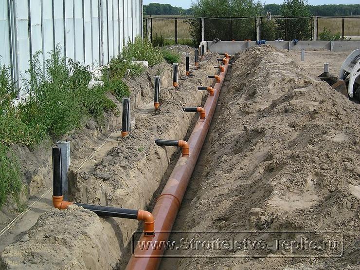 0001 Монтаж системы канализации промышленной теплицы