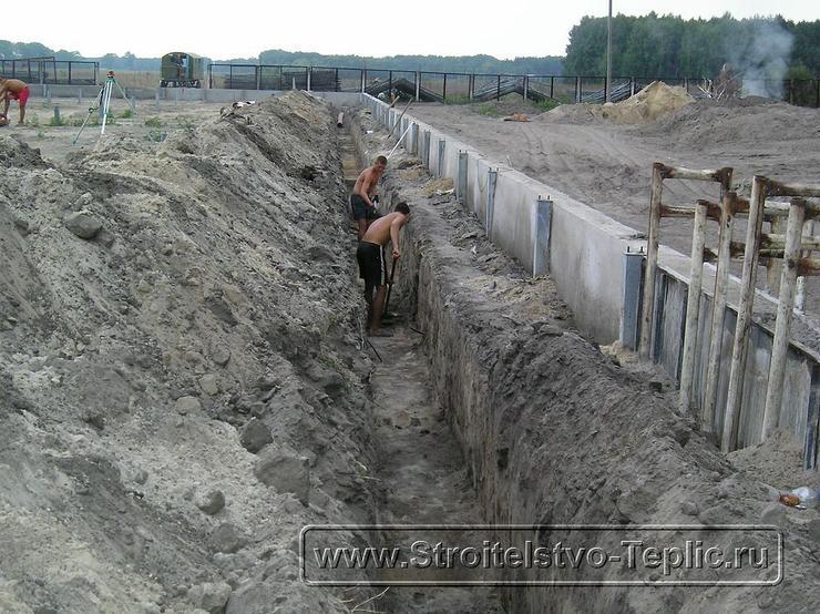 0019 Монтаж системы внутренних водостоков и канализации выполненный при строительстве промышленной теплицы