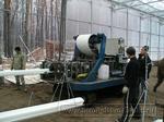 0026 Монтаж подвесных лотков для выращивания томатов в промышленной теплице