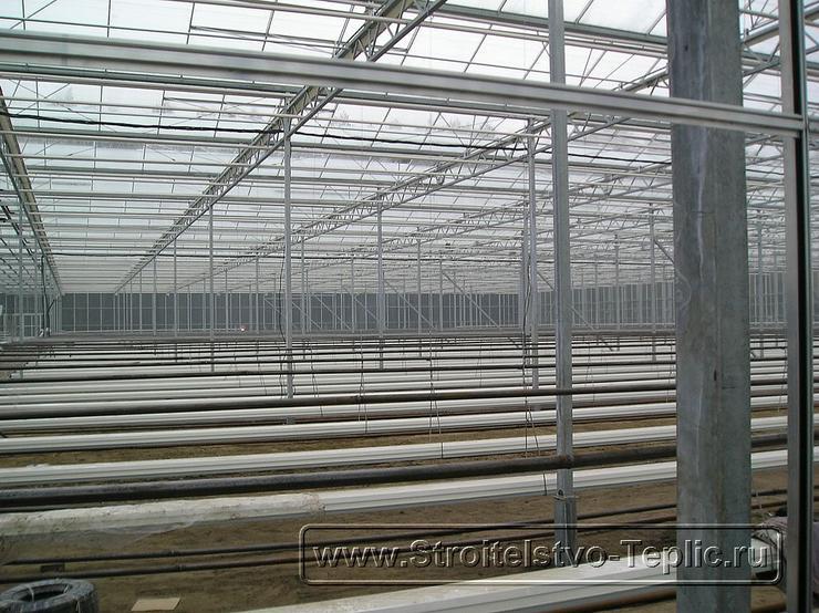 0031 Монтаж подвесных лотков для выращивания томатов в промышленной теплице