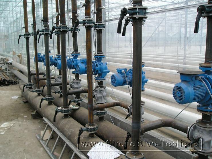 0032 Монтаж теплового узла в промышленной теплице