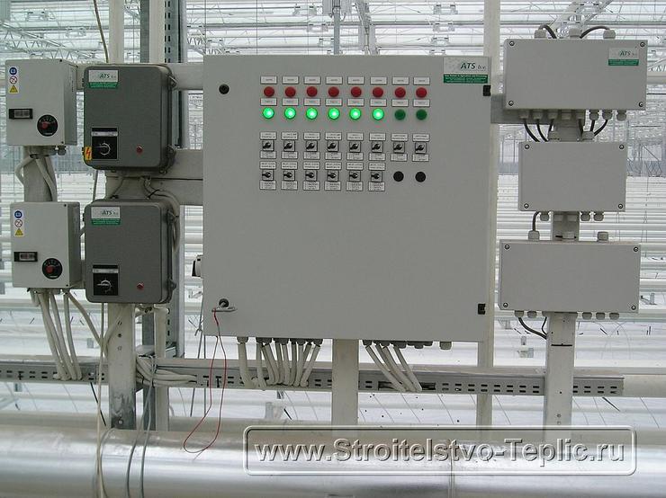 0038 Система управления смонтированна в промышленной теплице