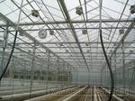 0040 Монтаж систем электродосвечивания и рециркуляции воздуха  в промышленной теплице закончен