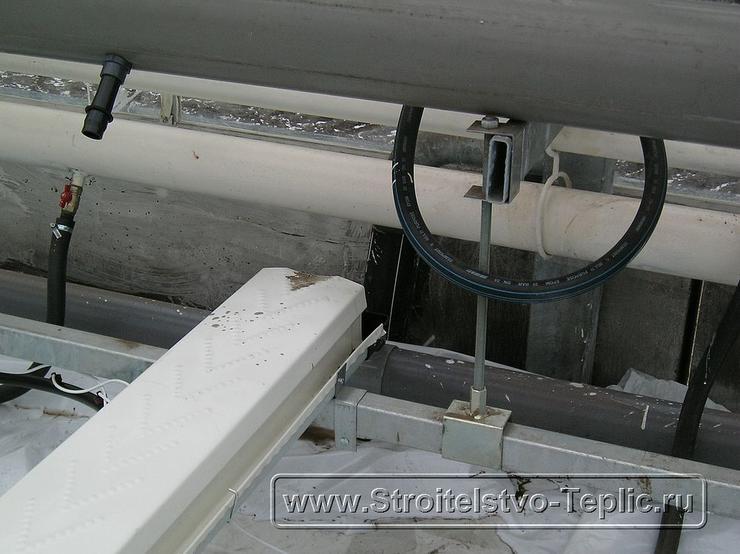 0044 Монтаж системы отопления промышленной теплицы