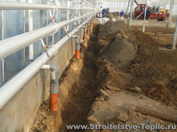 Ливневая канализация в теплице
