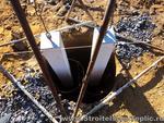Фундаментные столбики готовы к бетонированию
