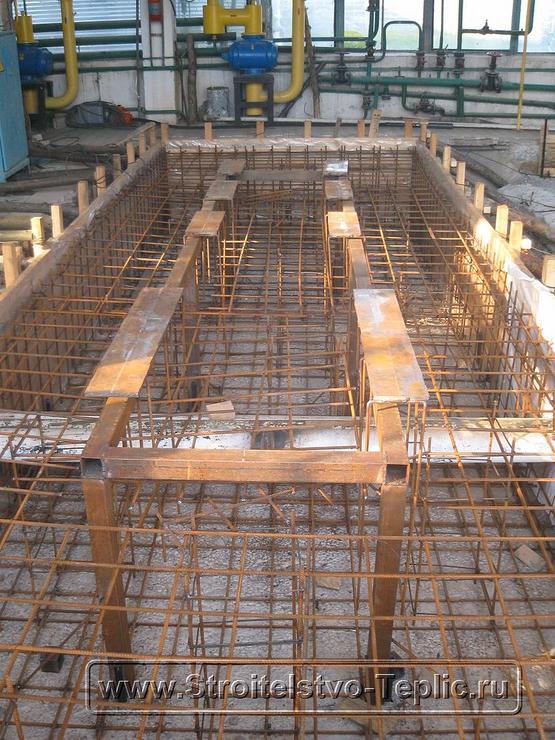 0051 Монтаж фундамента под когенератор для промышленной теплицы
