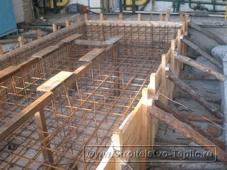 0053 Монтаж фундамента под когенератор для промышленной теплицы