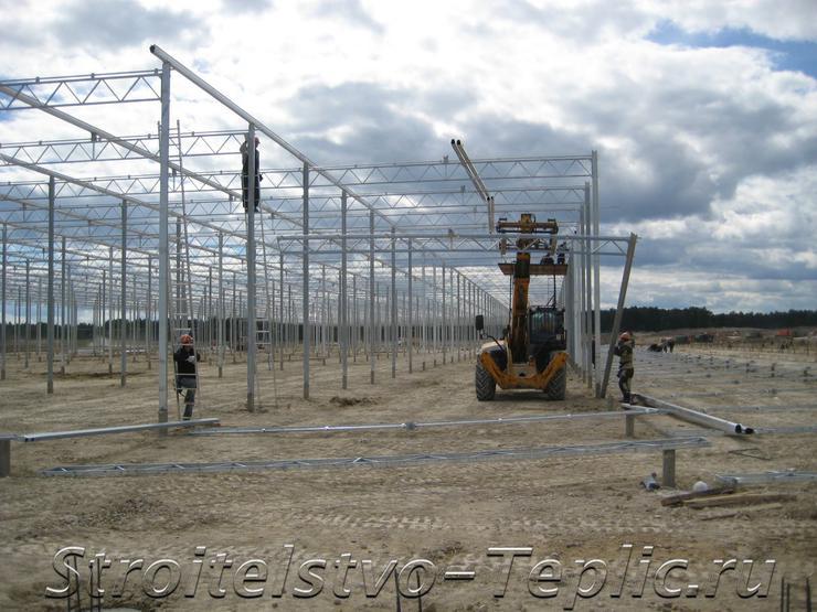 Возведение конструкций тепличного комплекса для ООО Агро-Инвест