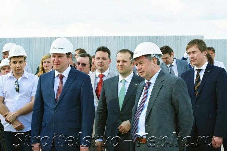 Губернатор Калужской области на закладке первого камня ТК