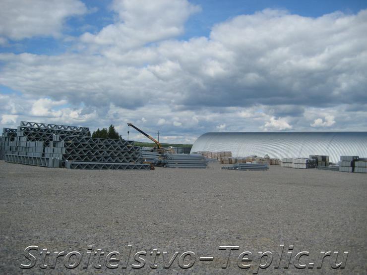 Площадка для хранения ТМЦ на площадке строительства ТК