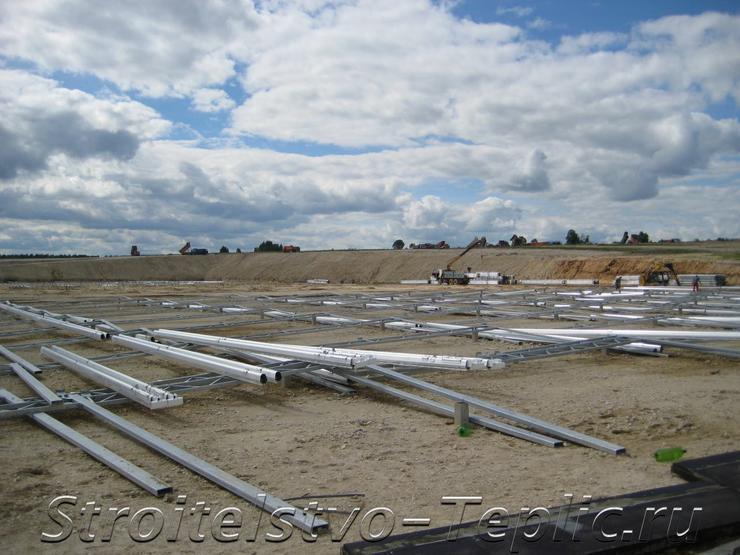 Подготовка к строительсву теплиц площадью 20га