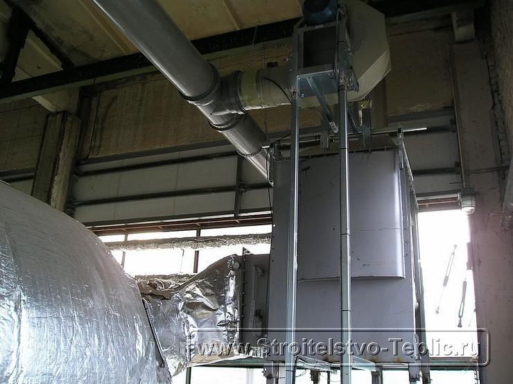 0058 Монтаж котельной, конденсора отбора СО2 в промышленной теплице