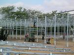 Строительство теплиц: монтаж стального каркаса промышленной теплицы