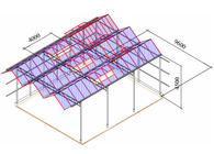 Пример - Промышленные теплицы типа «Venlo»  (Венло): Длина пролета 9,6 м, Высота колонн от фундамента до лотка 4,5 м, Шаг колонн 4,0 м